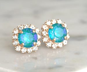 blue, wedding, and turquoise earrings image