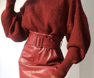 style, fashion, and red image