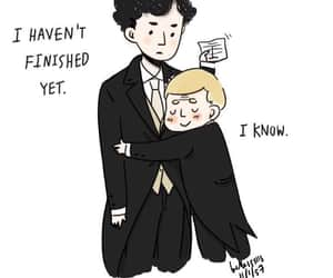 sherlock bbc, johnlock, and love image