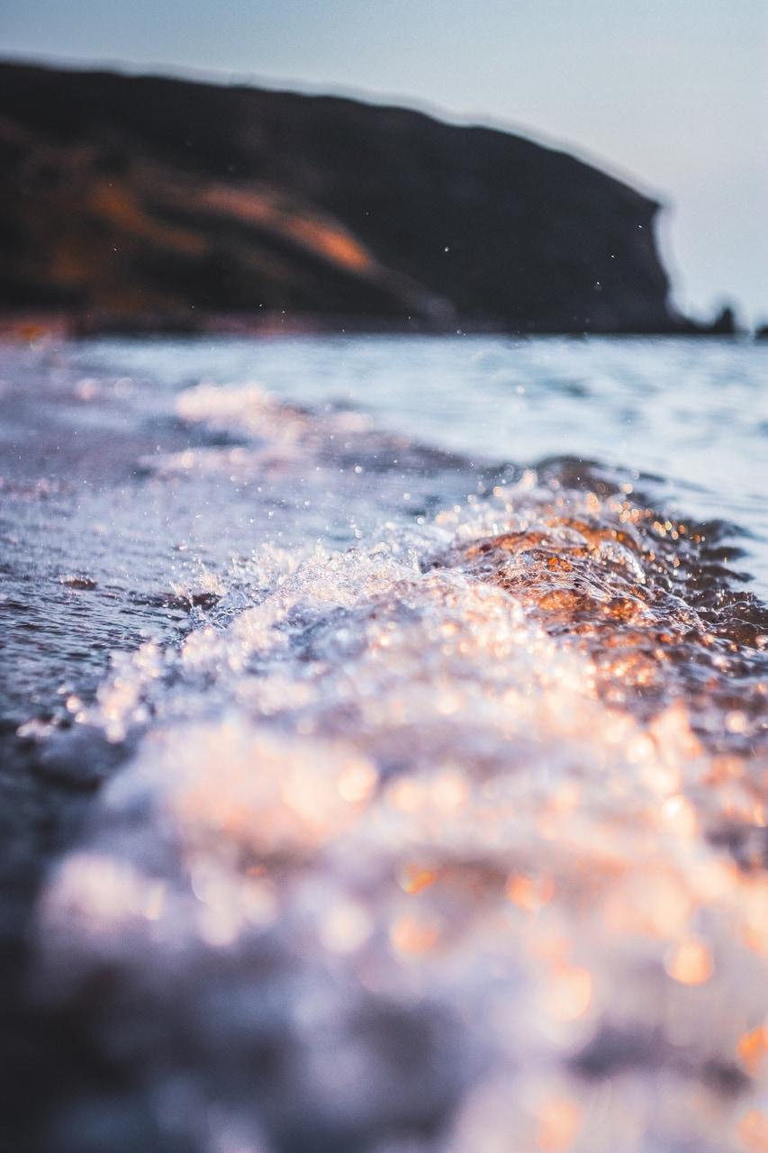 beach, landscape, and light image