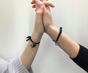 girlfriends, girls, and hands image