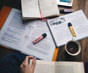 book, coffe, and computer image