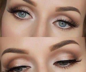 make up, eyes brown, and eyes liner image
