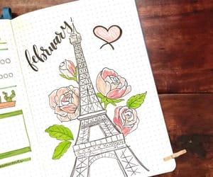 drawing, journaling, and pink image