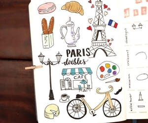 doodle, drawing, and france image