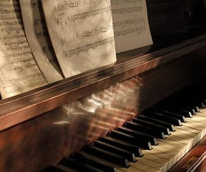 piano, music, and beautiful image