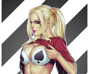 art, suicide squad, and harley image