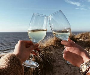 beach, wine, and friends image