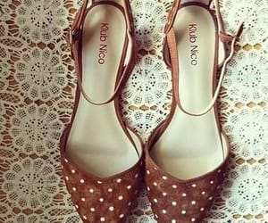 chaussures, shoes, and marron image
