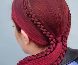 art, braid, and color image
