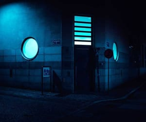blue and night image