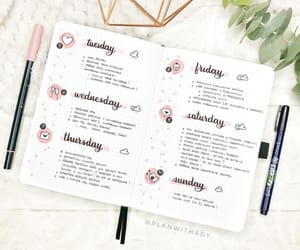 calligraphy, planner, and school image