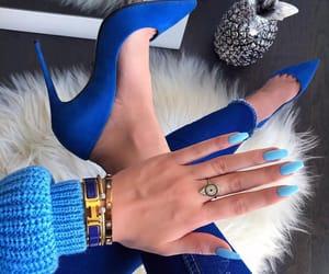 blue, nails, and fashion image