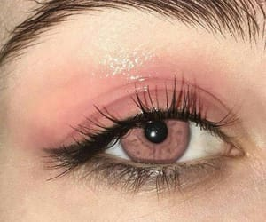 pink, eyes, and makeup image