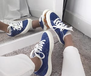 blue, converse, and flower image