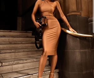 copper, dress, and fashion image