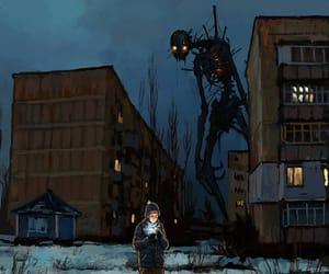 art, creepy, and skeleton image