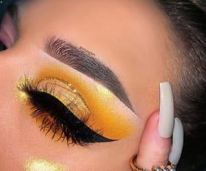 eyeliner, eyeshadow, and fashion image