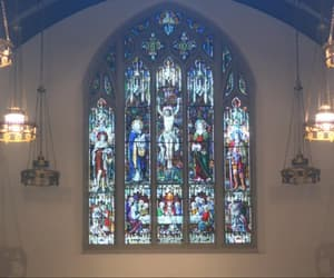 church, stained glass, and window image