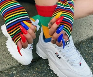 nails, Fila, and colors image