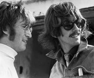 george harrison, john lennon, and beatles image