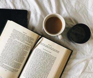 books, coffee, and words image