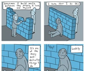 anxiety, comic, and depression image