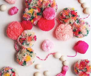 diy, pink, and pompom image