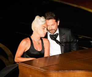 Lady gaga, oscars, and bradley cooper image