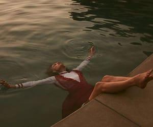 girl, aesthetic, and water image