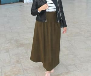 hijab and pleated skirt image