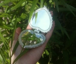 aesthetic, mirror, and green image