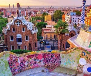 Barcelona, city, and colors image