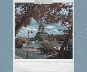 blue, paris, and polaroid image