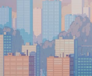 pixel, gif, and city image