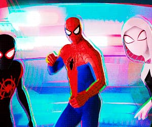 gif, spiderman, and peni parker image
