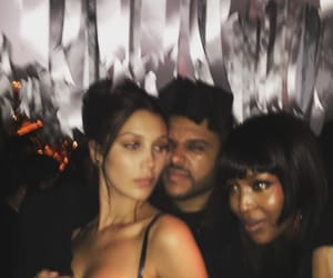 bella hadid, the weeknd, and Naomi Campbell image