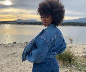 Afro, black girl, and brown girl image