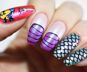 ariel, nail art, and barry m image