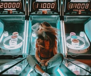 girl, photography, and arcade image