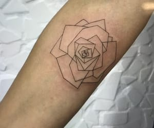 girl, rose, and tattoo image