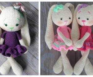 bunny, crochet, and easter image