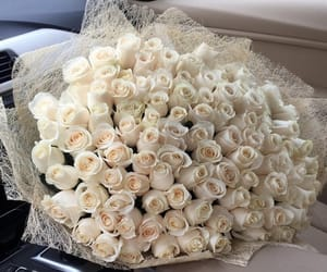 Dream, flowers, and white roses image