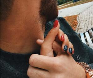couples, fashion, and nail art image