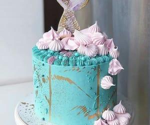 birthday, blue, and cake image