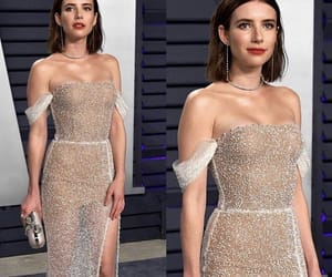 dress, emma roberts, and awards image