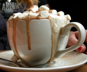 marshmallow, coffee, and food image