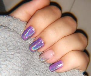 chrome, nails, and purple image