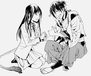 anime, black and white, and yato image