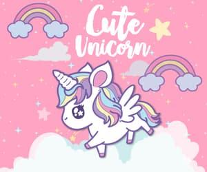 wallpaper, pink, and unicorn image